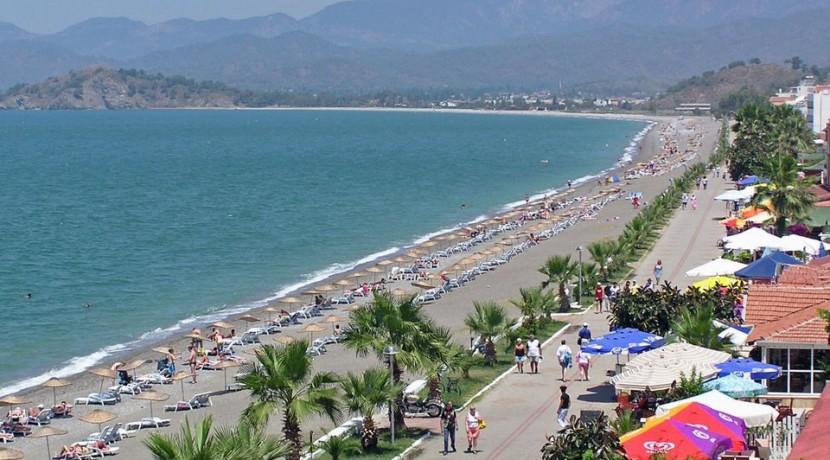 Calis beach southwest coast Turkey