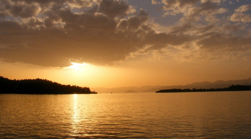 Fethiye Calis beach sunset