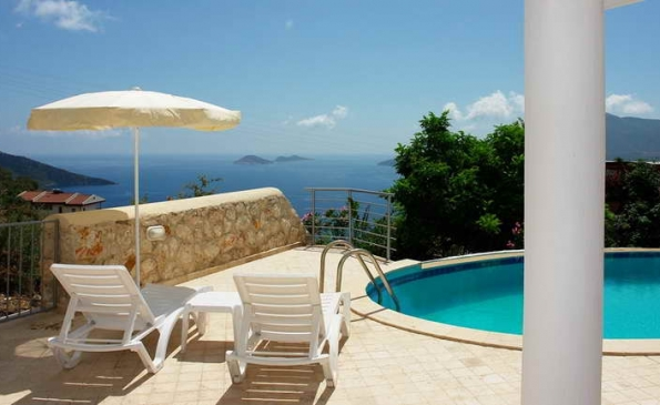 Beatiful House with Fabulous Sea Views in Kalkan For Sale