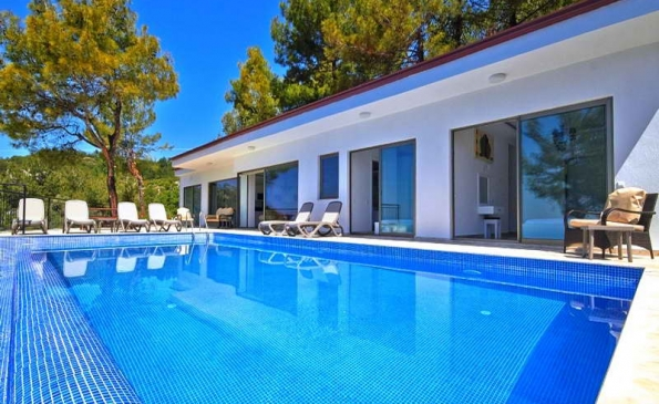 Modern Bungalow with Stunning Views in Kalkan For Sale