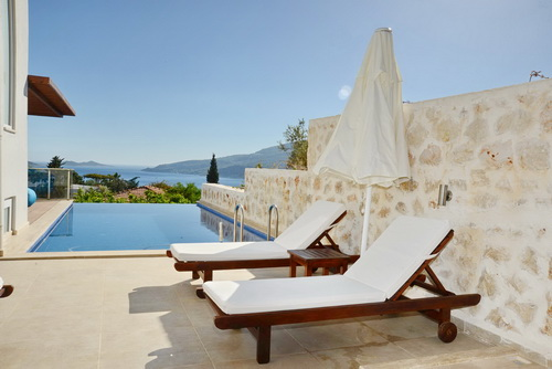 Superb 6 Bedroom Triplex Villa with Infinity Pool in Kalkan
