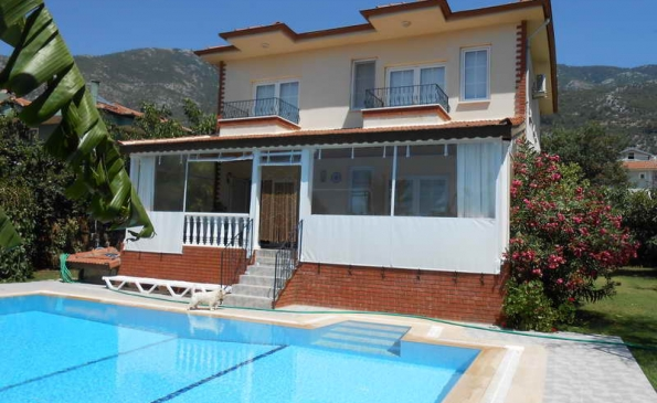 Spacious 5 Bedroom Furnished Detached Villa with Pool Ovacik Fethiye