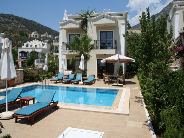 Central Villa With Sea View In Kalkan For Sale