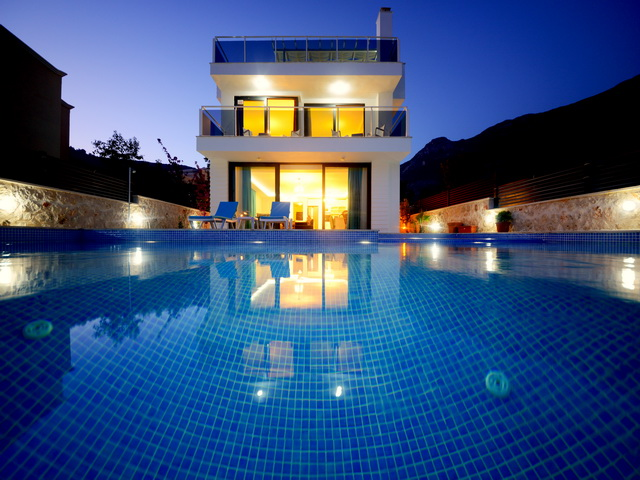 Fully Furnished Modern Villa With Sea View in Kalkan 5 Bedrooms