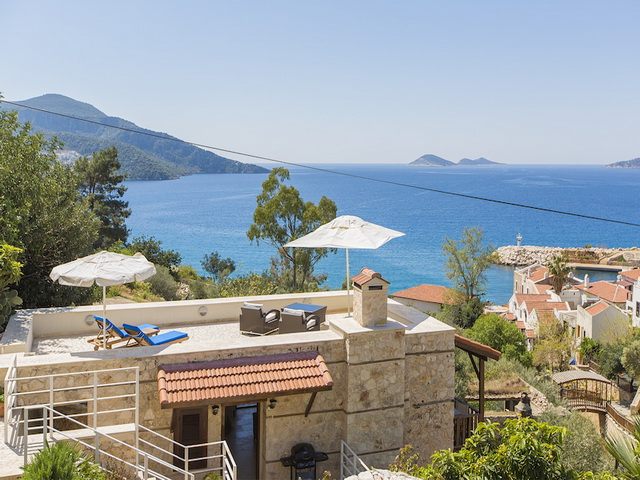 Renovated Villa with Sea View in Kalkan For Sale