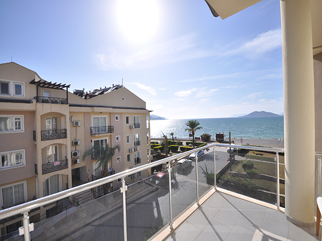 Sea View Furnished Apartment in Calis For Sale