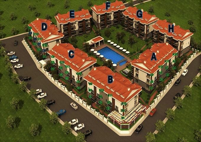 Brand New Apartment Complex in Tasyaka Fethiye