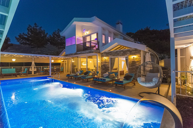 Luxury Fully Furnished 3 Bedroom Villa in Kalkan For Sale