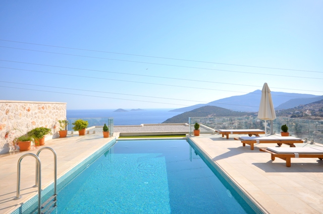 Brand New Triplex Villa With Stunning Views of Kalkan For Sale