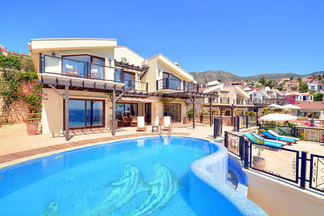 Beachfront Detached Villa in Kalkan For Sale