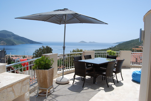 Duplex Apartment For Sale with Wonderful Views of Kalkan Bay