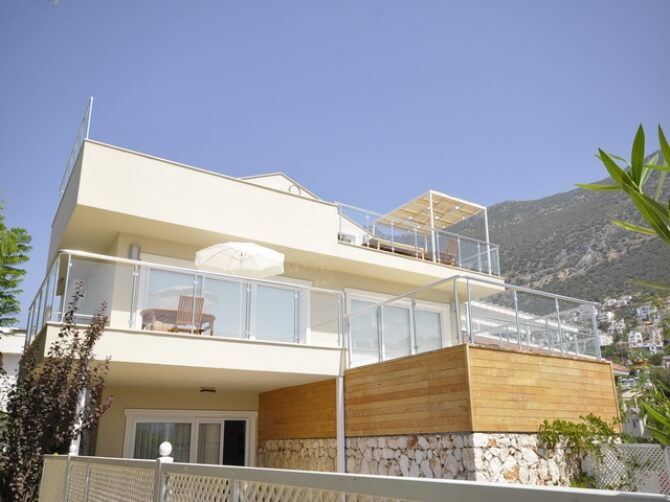 Duplex Apartment For Sale in Kalkan with Private Swimming Pool