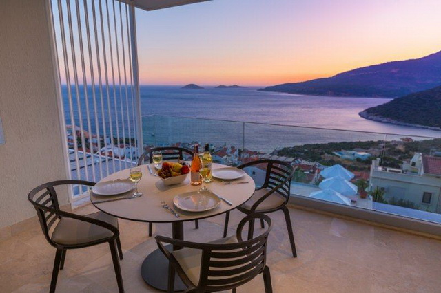 Duplex Apartment Overlooking Kalkan Bay