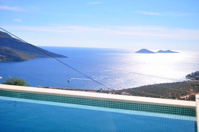 Spacious Villa For Sale with Modern Design Overlooking Kalkan Bay