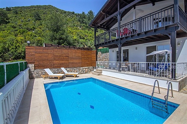 Detached Villa For Sale in Uzumlu with Private Garden and Swimming Pool