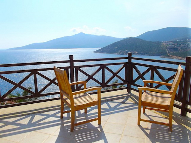 Spacious Seafront Villa with Panoramic Views of Kalkan