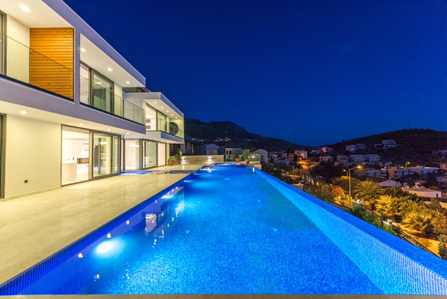 Contemporary Designed 6 Bedroom Villa For Sale in Kalkan