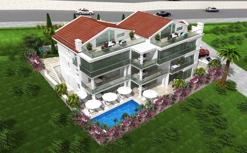 Newly Completed 2 and 3 Bedrooms Apartments in Kalkan For Sale