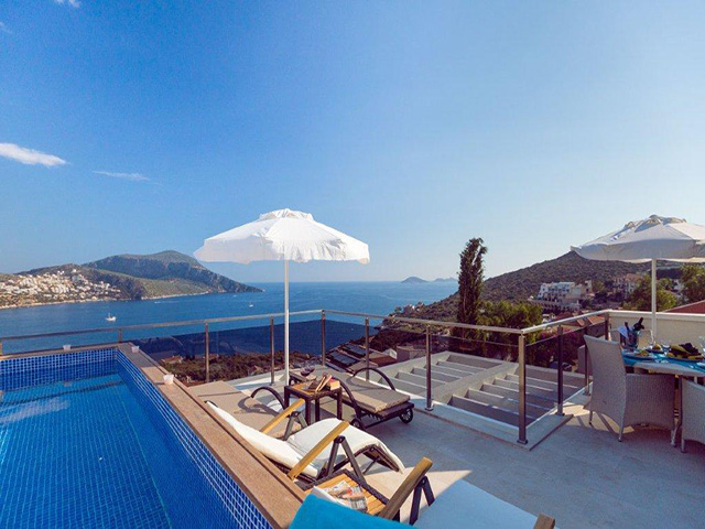 Sea View Apartments with Private Pools in Kalkan For Sale