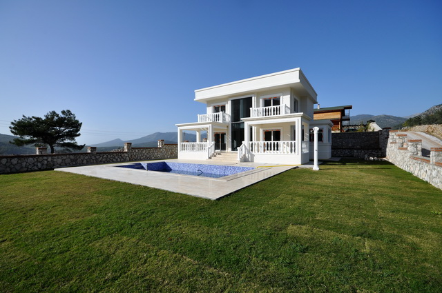 Luxury Brand New Uzumlu Villa With Panaromic View For Sale