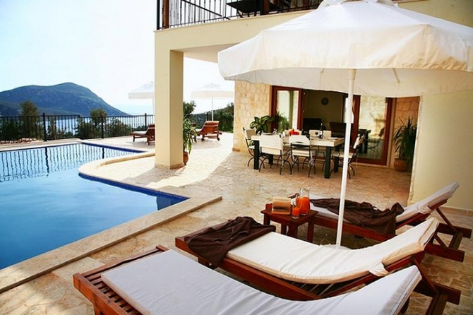 Stylish 3 Bedroom Villa with Sea Views in Kalkan For Sale