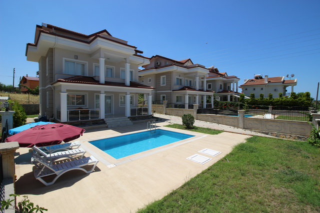 Newly Built 4 Bedroom Detached Villas For Sale in Ciftlik / Calis