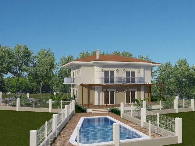 Detached  Villa For Sale In Inlice, Gocek