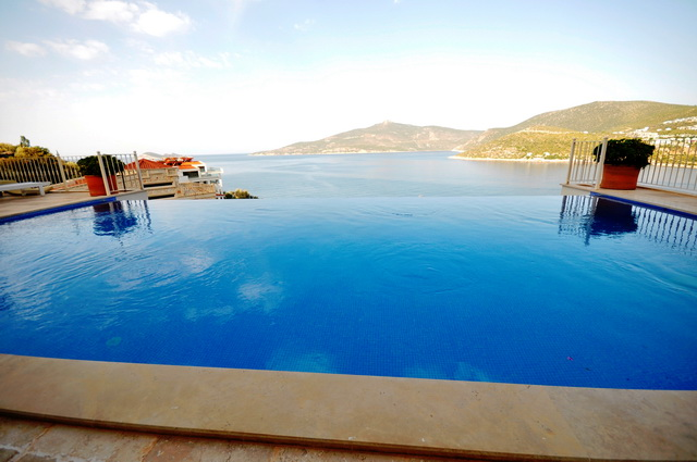 Penthouse Apartment For Sale with Superb Sea View and Private Pool in Kalkan