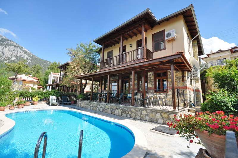 Two Storey Stone Villa For Sale in Uzumlu