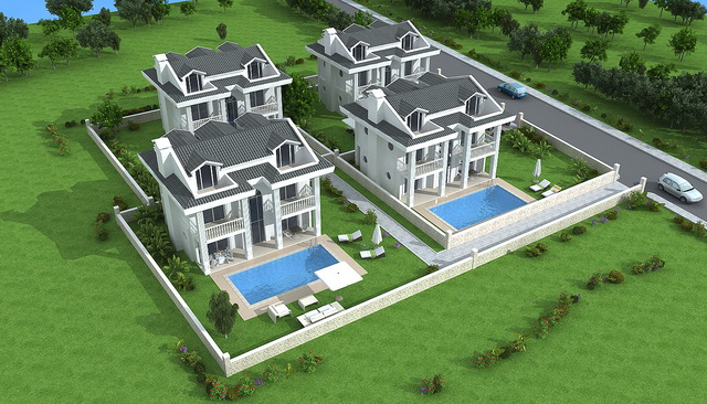 Four Bedroom Detached villa Project in Ovacik