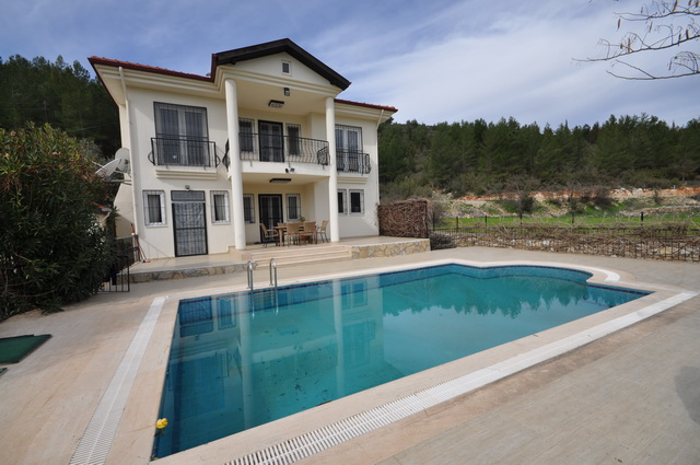 Three Bedroom Detached Villa With Huge Plot of Land in Uzumlu