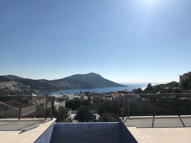 2 Bedroom Brand New Kalkan Apartment with Private Infinity Pool For Sale