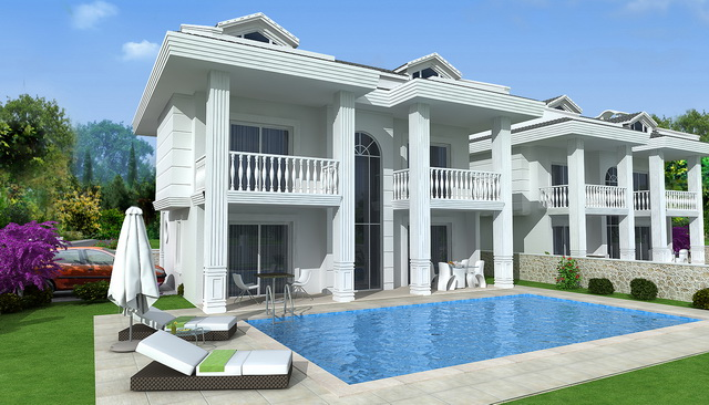 Four Bedroom Ovacik Villas With Mountain View (Off-Plan)