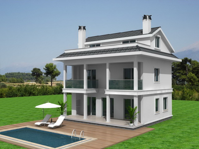 Exclusive  Detached off plan 4 Bedroom Villas in Ovacik