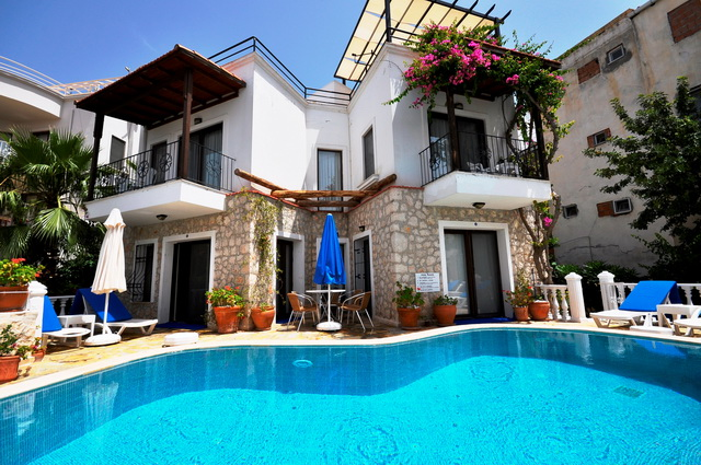 Centraly Located Detached Sea View Villa in Kalkan For Sale