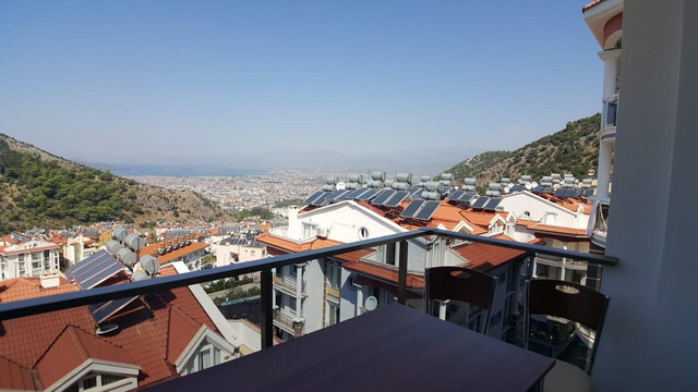 SOLD !!! Three Bedroom Sea View Apartment For Sale in Fethiye