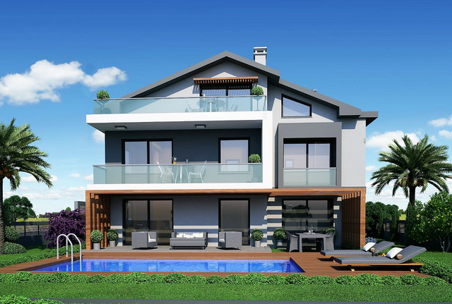 5 Bedroom Brand New Villa Walking Distance to the Calis Beach For Sale