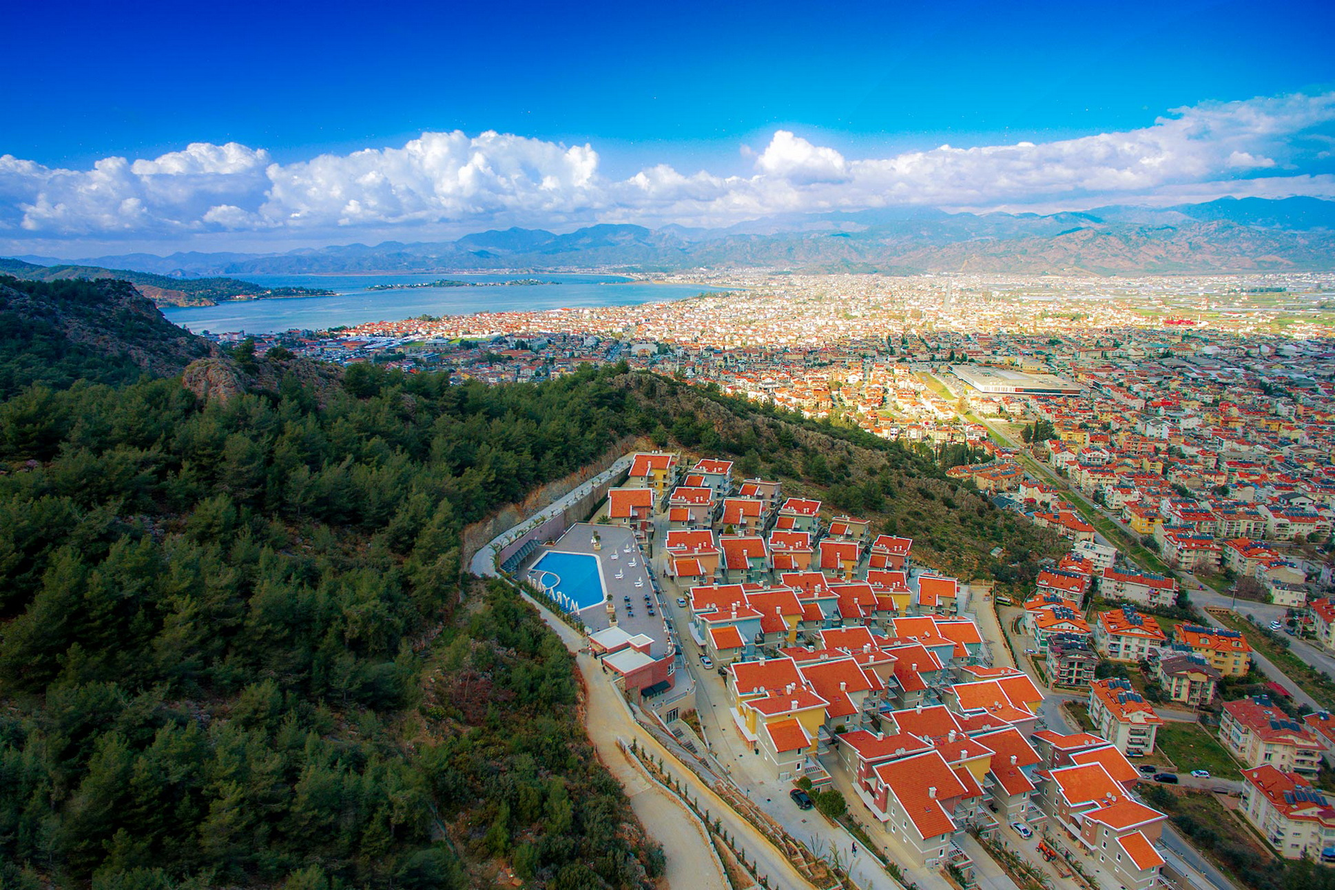 Brand New Estate/Complex Set Amongst the Pine Trees with Mountain Views in Deliktas Fethiye