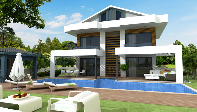 Off Plan 4Bedroom Luxury Villa With Mountain Views in Ovacik For Sale