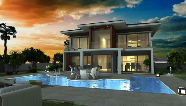 Four Bedroom  Modern Design Villa with Private Pool in Hisaronu For Sale
