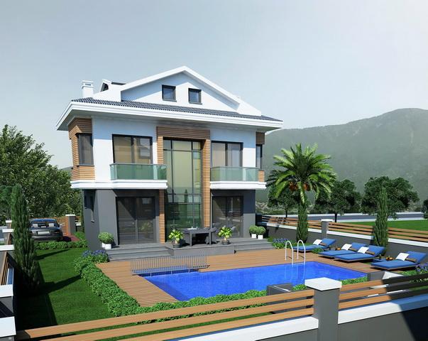 3 Bedroom  Off Plan Villas Located in Peaceful Hisaronu For Sale