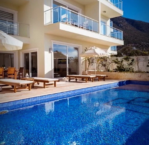 3 Bedroom Luxury Duplex Apartment with Sea View in Kalkan For Sale