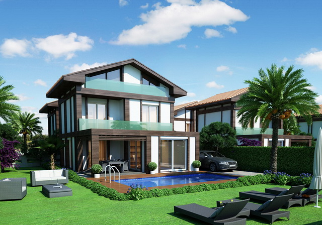 4 Bedroom Detached Triplex Villas with Private Pool For Sale