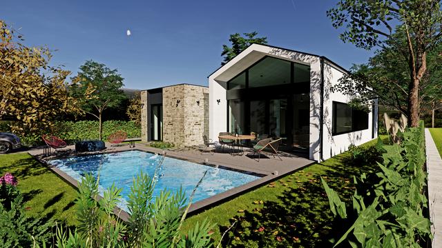 3 Yatak Odalı Modern Dizayn Özel Havuzlu Satılık Bungalov