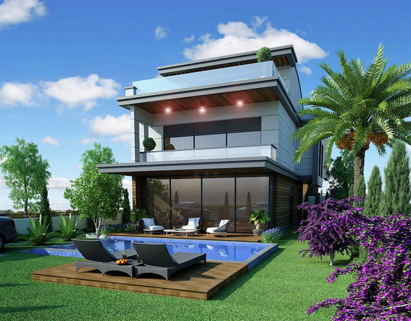 Modern Spacious 4 Bedroom Detached Villas with Private Pool For Sale