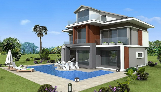 4 Bedroom Luxury Villas with Sea View & Swimming Pool For Sale