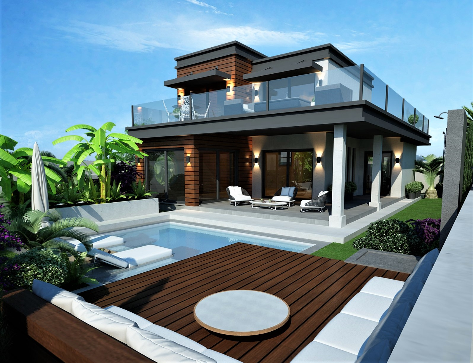 Off Plan 3 Bedroom Luxury Dublex Villa with Swimming Pool For Sale