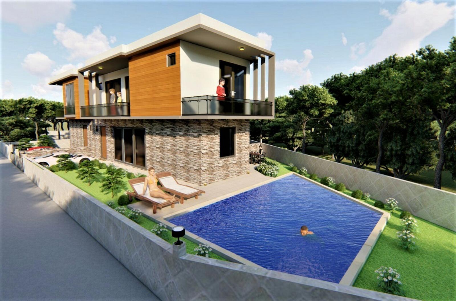 Semi Detached Villa with Private Pool  &  Garden For Sale