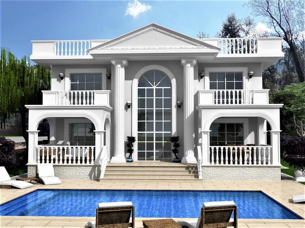 Beautiful 4 Bedroom Detached  Villa with Gallery in Uzumlu For Sale
