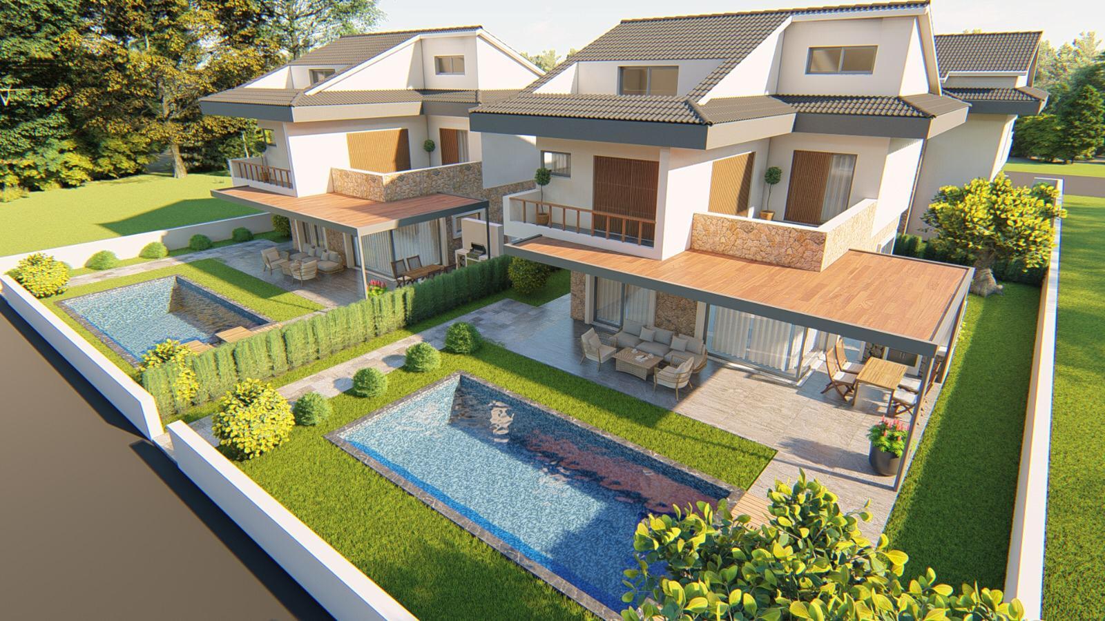 Exclusive 5 Bedroom Calis Villas with Private Pool & Gardens